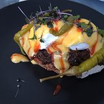 Ox cheek benedict...It's full of flavor, awesome