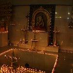 Lord Shiva and the Shiva linga below