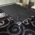 Broken sofa bed.