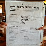 I don't expect a lot of options for my gluten-free forced diet, but how about a reworked menu in