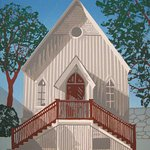 Print of the Cultural center by Jane Keddy of Keddy Graphic