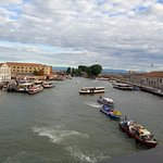 view from piazalla roma bridge