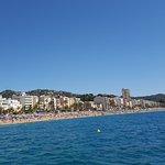 vue de la plage de lioret de mar