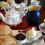 Cornish cream tea for two at The Rectory, Morwenstow.
