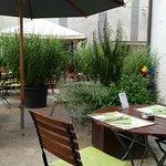 Garten des Restaurants