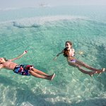 Enjoy floating on the Dead Sea