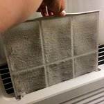 AC unit filter not cleaned for ages
