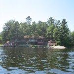 Arrowhead Lodge from the lake