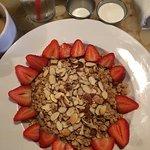 Strawberry Gingersnap Granola with Almond Milk