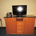 TV stand/holds fridge & microwave inside