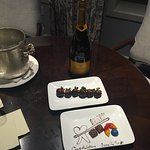 Surprise complimentary dessert upon arrival back to our suite (my husband is a dentist)