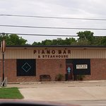 Exterior of the Piano Bar and Steakhouse...Like I said, don't judge a book by the cover...