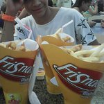 it is a nice snack. fries good