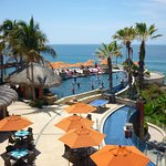 Pool area with a view of the Sea of Cortez