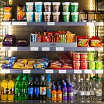 Feeling peckish? Grab a snack from our fully stocked vending area