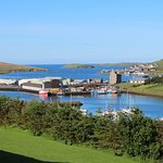 Great view over to Scalloway castle