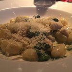 gnocchi with cream, spinach and chicken with parmesan (aprox 5.5 EUR)