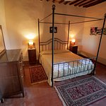 One of the bedrooms at Castello di Selvole.