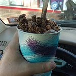 No filters. This snickers avalanche w/chocolate ice cream just looks that good.