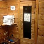 Sauna and towels