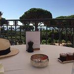 la terraza donde desayunamos. Un placer