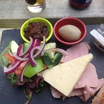 Ploughmans Lunch, there were 2 more pickled onions that were quickly gone before pic taken.