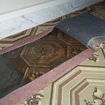 Original Foyer Carpet and New Reproduction Carpet