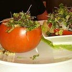 Stuffed Tomato and salad