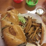 Most awesome Torta ever with fresh hand cut fries.