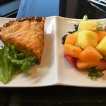 Seafood Quiche and Fruit