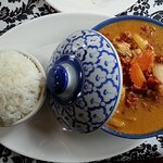 Massaman curry chicken...extra spicy!