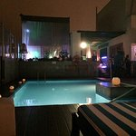 Rooftop pool and bar
