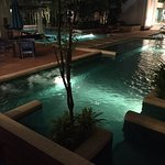 Walk out to the pool and bar
