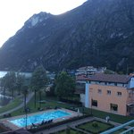 Overlooking the pool and Porlezzo town.