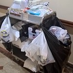 This is the house keeping cart using for cleaning rooms