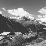 Etwas unterhalb vom ChezVrony. Weiler Findeln mit Blick aufs Matterhorn