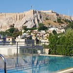 Roof top pool and Acropolis