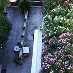 Blick vom Hotelzimmer Richtung Hotelgarten