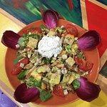 Notre salade fraîcheur du jour  Et magnifique feu d'artifice pour le 15 août