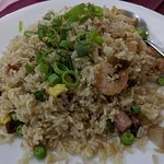 Even the fried rice has real prawns in it. Very tasty.
