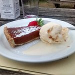 The treacle and stem ginger tart was marvellous