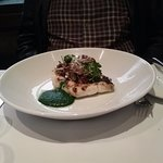 John Dory with mushrooms, spinach puree.