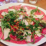 Beef Carpaccio with rocket salad