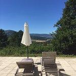 La vue imprenable sur les Monts d'Ardèche...