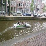 Paddleboat on the Amstel