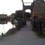 Enjoying a walk along the canal