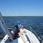 First day, learning to sail, Sail Solomons, MD