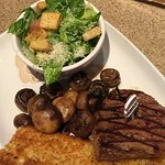 Steak sandwich - the mushrooms were the highlight!