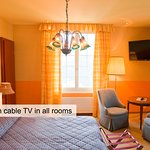 Flatscreen TV available in all rooms