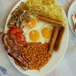 Jumbo breakfast at D&B's restaurant